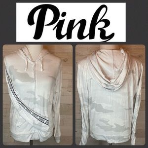 Victoria's Secret PINK Grey and White Camo Hoodie